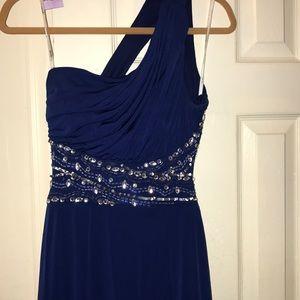 Formal dark royal blue dress